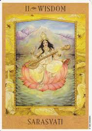 Sarasvati from The Goddess Tarot by Kris Waldherr